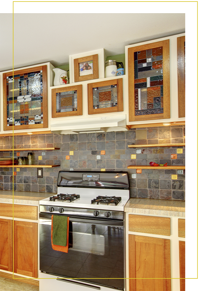 Cabinet Inserts Terraza Stained Glass